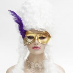 Belly Dancer purple & gold masquerade mask