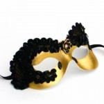 Divine Black & Gold Lace Eye Mask