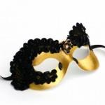 Divine Black & Gold Lace Eye Mask