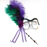 Mardi Gras Peacock Stick Mask