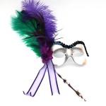 Mardi Gras Peacock Stick Mask