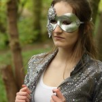 silver jewelled embellished masquerade mask