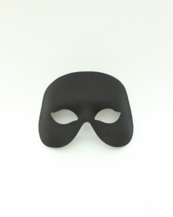 Mens Black Cocktail Masquerade Eye Mask