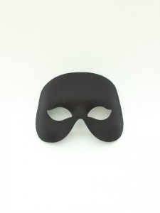 Mens Black Cocktail mask