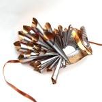 Womens Unique Futuristic Metal Venetian Mask