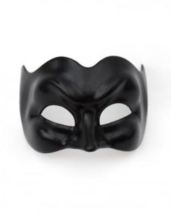 Black Joker Venetian Mask
