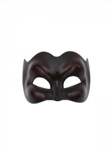 Dark black brown joker devil Venetian Mask