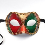 Mens venetian multicoloured diamond harlequin masquerade mask