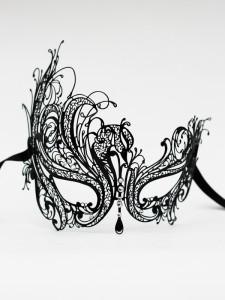 Constance metal venetian mask