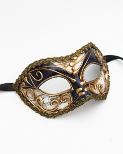 Navy & Gold Music Mask