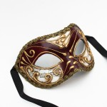 Wine & Gold Music Mask