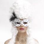 DeVille Black & White Spotted Masqerade Mask