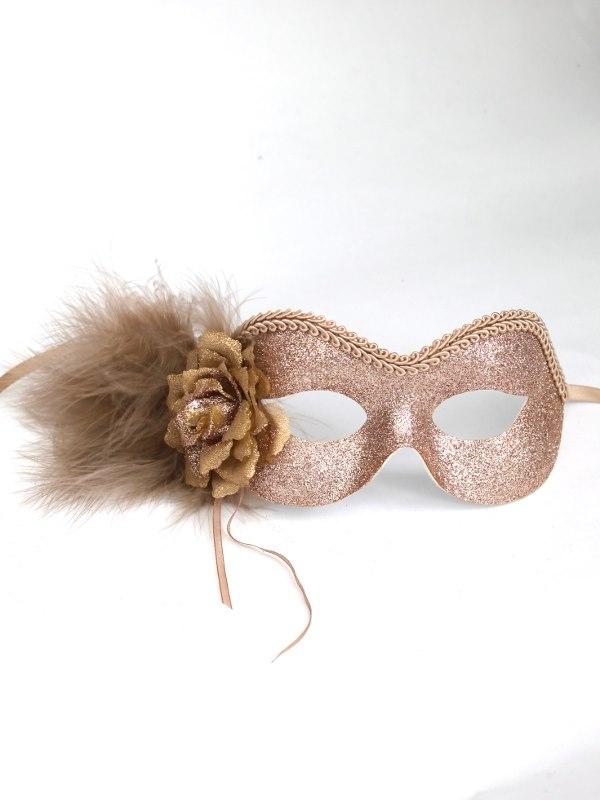 womens beautiful gold amp beige glitter masquerade eye mask