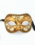 Mens Gold Venetian Musica Mask