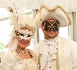 45. Couples Wedding Masks