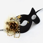 Black &Cream Steampunk Victorian Masquerade Eye Mask