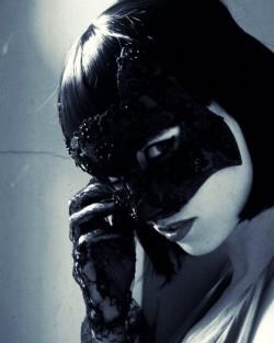 Luxury Designer Black Lace Cat Mask