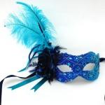 Luxury Blue Jewelled Venetian Mask