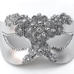 Luxury Jewelled Silver Venetian Mask