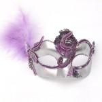 Luxury Lilac and Silver Venetian Mask