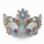 Luxury Pastel Beaded Venetian Mask