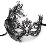 Metal Venetian Swan Masquerade Mask