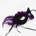 Purple Black Gothic Rose Masquerade Mask