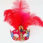 Tropical Paradise Venetian Pink Mask