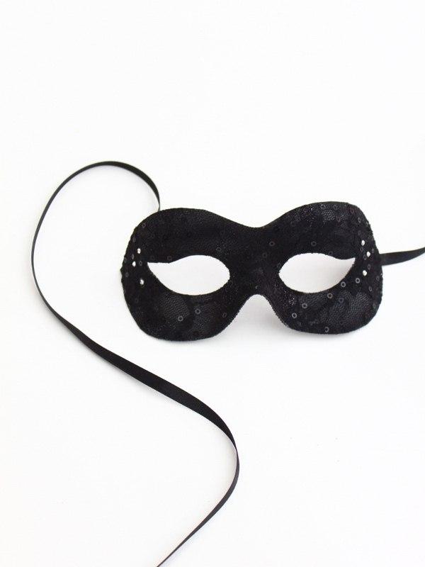 Black Cinderella Lace Mask