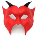 Halloween Leather Devil Mask