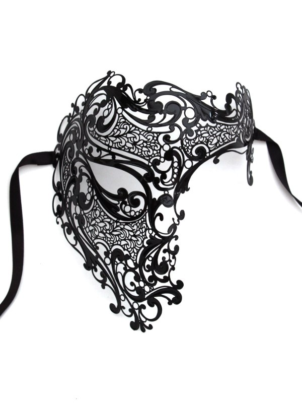 Filigree Metal Full Face Phantom of the Opera Mask