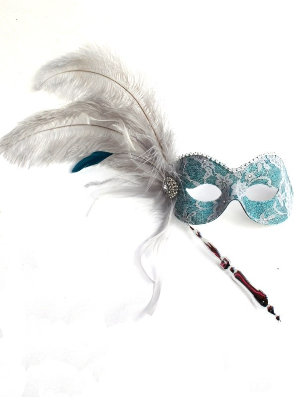 Luxury Silver & Teal Lace Stick b