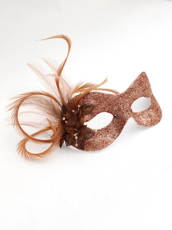 Petite Bronze Flower Mask