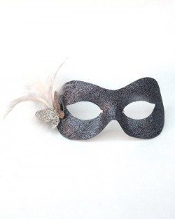 Petite Pewter & Silver Butterfly Mask