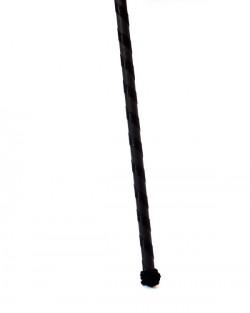 Ribbon covered wood stick black
