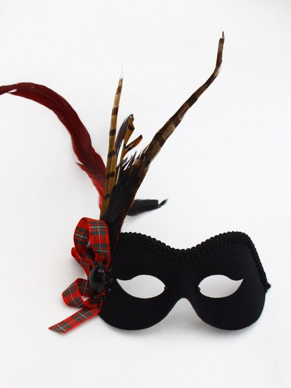 Scottish Tartan Masquerade Mask b