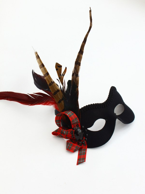 Scottish Tartan Masquerade Mask