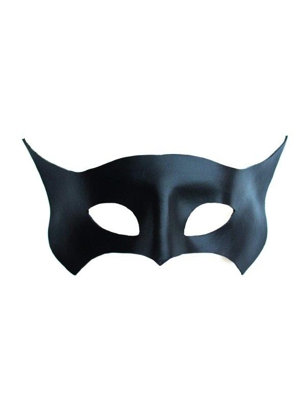 Black Leather Bat Mask