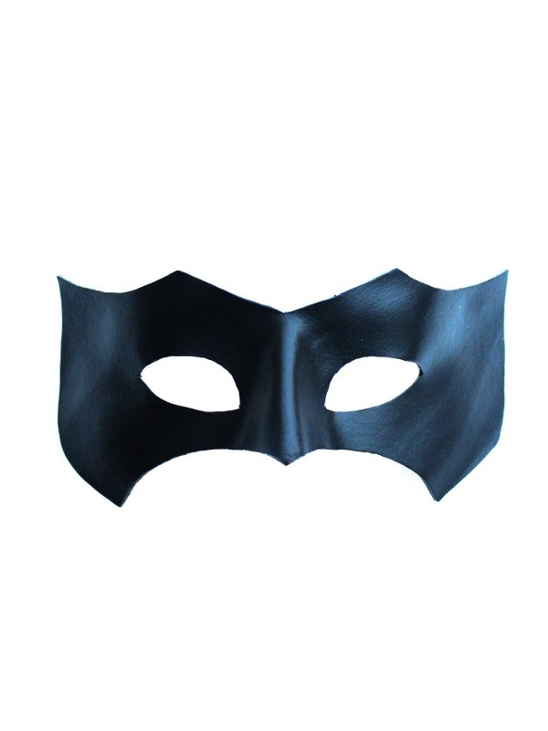 Black Leather Superhero Mask