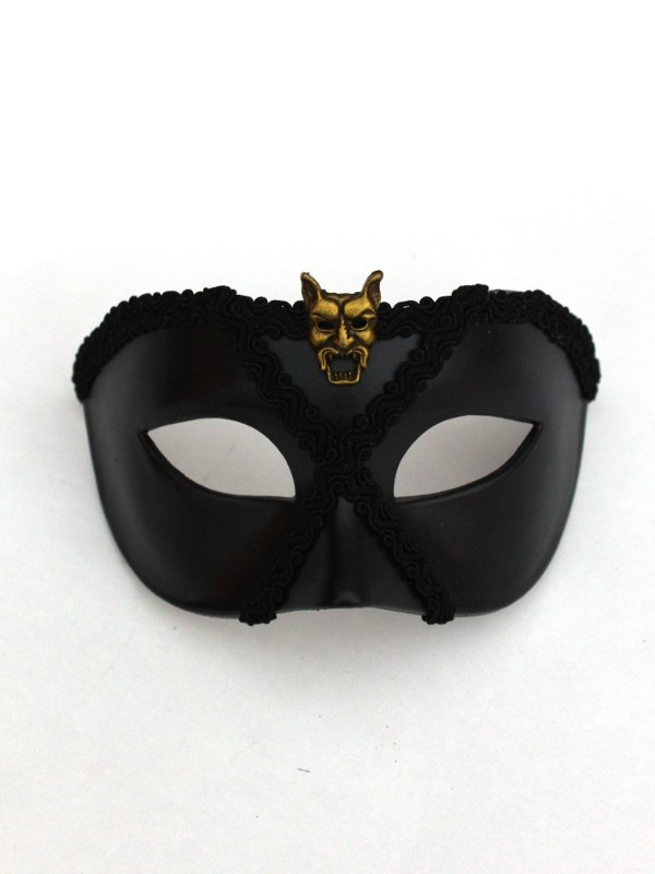 Bocca Black Venetian Masquerade Mask Made in Chelsea Jamie
