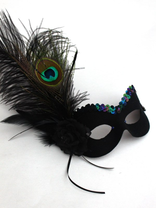Peacock Black Eye Mask