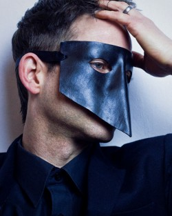 Black Bauta Leather Mask as seen on Sex Party Secrets
