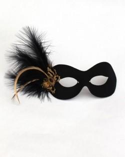 Black & Gold Filigree Butterfly Eye Mask
