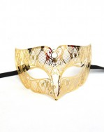 men's Gold Smoking metal filigree mask