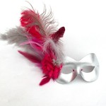 Pink & Silver Exotic Feather 1