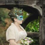 Peacock Masquerade Wedding Mask