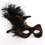 Bronze & Black Lace Masquerade Mask