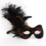 Bronze & Black Lace Masquerade Mask