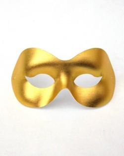 Plain Gold Masquerade Eye Mask