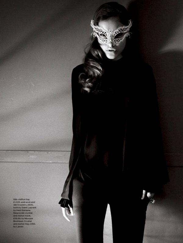 ELLE White Katherine Metal Mask